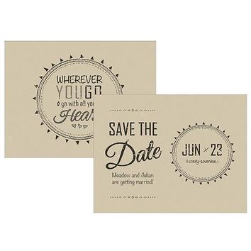 Free Spirit Save The Date Card (Pack of 1)