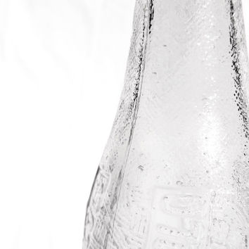1941 Pepsi Cola Glass Bottle, Vintage Industrial Decor