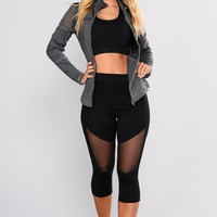 Bethany Mesh Active Leggings - Black
