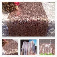 Rose Gold Sequin Table Runners 12in x108in and Tablecloths Sparkle Runners Rose Gold Luxe Wedding -Baby Shower -Party Linens TREND alert
