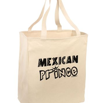 Mexican Prince - Cinco de Mayo Large Grocery Tote Bag by TooLoud