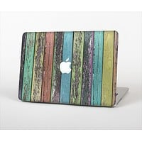 The Chipped Pastel Paint on Wood Skin Set for the Apple MacBook Air 13""