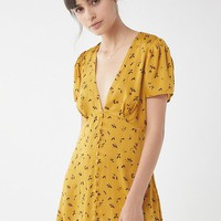 UO Jen Button-Down Mini Dress | Urban Outfitters