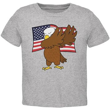 4th Of July America Dabbing Bald Eagle Toddler T Shirt
