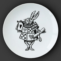 White Rabbit Alice In Wonderland Plate