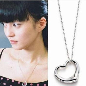 XS015 Heart Pendants Necklaces For Women Fashion Jewelry Simply LOVE Collares Bijoux Minimalist Necklace Valentine's Day Gift