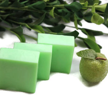 Cucumber Melon Soap - Green Apple Soap - Key Lime Soap - Green Bar Soap - Decorative Soap - Guest Soap - Evergreen Soap - Lime Green Soap