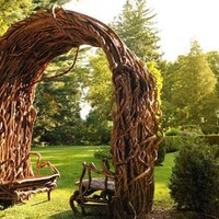 Antique Furniture For Outdoor Or Indoor Made Of Twigs By Laura Spector - Furniture Design