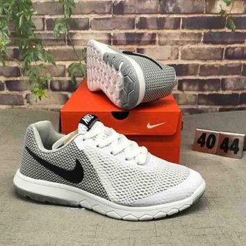 NIKE FLEX EXPERIENCE RN 6 Stylish Trending Men Leisure Color Matching Sport Running Shoe Sneakers Grey White I-CSXY