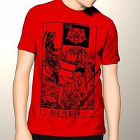 Death Tarot Card HORROR Occult Movie T-shirt S-6XL | XLT - 3XLT