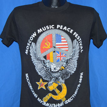 80s Moscow Music Festival MTV Russia t-shirt Medium