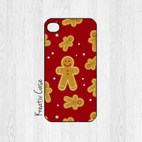iPhone 5 case, iPhone 5S case, Christmas Phone Cases, Holiday, Gingerbread Man, Red, Merry Christmas, - X016