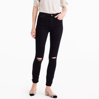 Petite distressed lookout high-rise jean in true black : Women denim | J.Crew