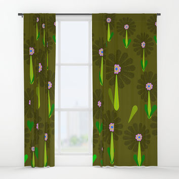 zappwaits Flower Window Curtains by netzauge