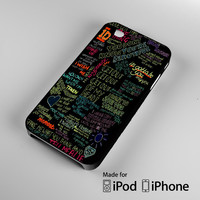 one direction song iPhone 4 4S 5 5S 5C 6, iPod Touch 4 5 Cases