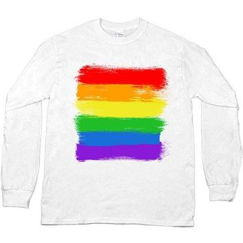 LGBTQIA+ Flag -- Unisex Long-Sleeve