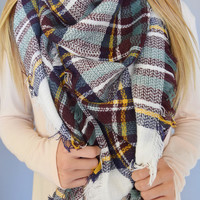 Rocky Mountain Blanket Scarf Navy