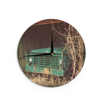 "Angie Turner ""Ford"" Teal Car Wall Clock"