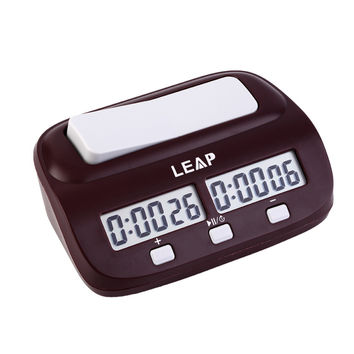 LEAP Professional Compact Digital Chess Clock Count Up Down Timer Electronic Board Game Bonus Competition Master Tournament free