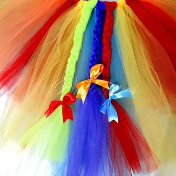 rainbow dash tutu– girl tutu costume– baby tutu costume– tutu costume – tutu set – halloween – birthday tutu – party tutu – wings – headband