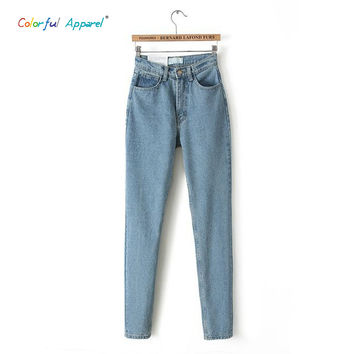 [B-222] 2014 spring new womens high cowboy harem pants vintage cowboy full length pants loose cowboy pants