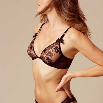Petra Bra Black And Cinnamon
