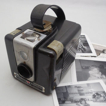 "Vintage Brownie Hawkeye by Eastman Kodak 3 1/2"", Collectible Camera, Display Camera Memorabilia, Book Shelf Decor, Vintage Kodak"