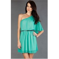 CT2315 Aqua One Shoulder Goddess Dress and Womens Fashion Clothing & Shoes - Make Me Chic