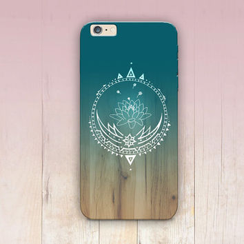 Lotus Ombre Wood Print Phone Case  - iPhone 6 Case - iPhone 5 Case - iPhone 4 Case - Samsung S4 Case - iPhone 5C - Tough Case - Matte Case