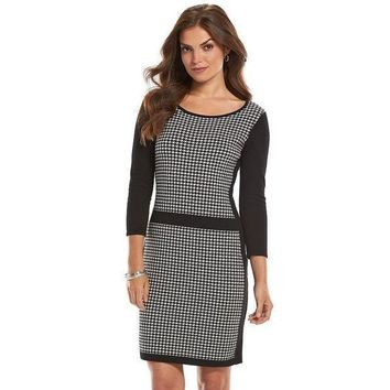 Chaps Houndstooth Sweaterdress   Women's Size: