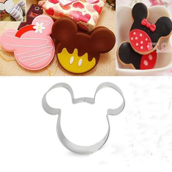 cartoon minnie mouse cookie cutter metal reposteria fondant cake decorating tool pastry Fruit cupcake topper
