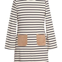 Girl's Monteau Couture Stripe T-Shirt Dress,