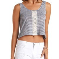 Crochet Front Crop Top by Charlotte Russe