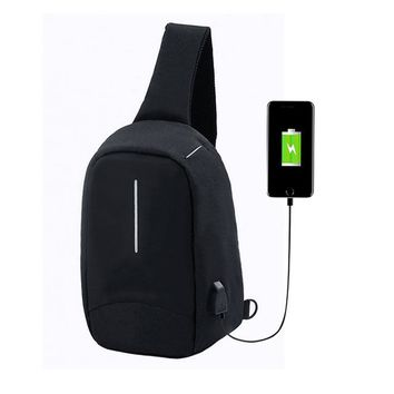 Family Friends party Board game Aelicy Male External USB Charge Chest Bags Men Chest Pack Antitheft Travel Crossbody Bag For Men Casual Sling Shoulder Bag AT_41_3