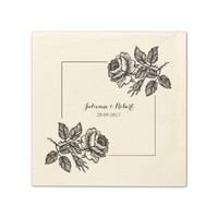 Rose Garden | Rustic Disposable Serviette Napkin