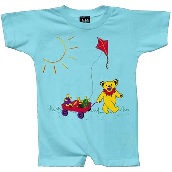 Grateful Dead - Wagon Aqua Romper