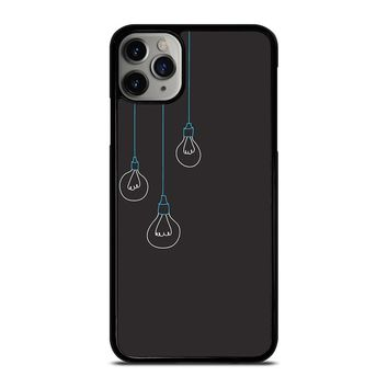 BLACK LIGHT BULBS MINIMALISTIC iPhone Case Cover