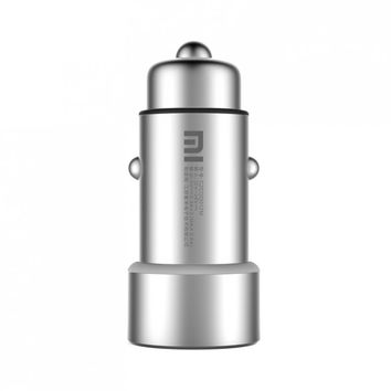 100% Original Xiaomi Car Charger 2-in-1 Double USB Cigarette Lighter Adapter for iPhone iPad Samsung LG HTC Lenovo Huawei