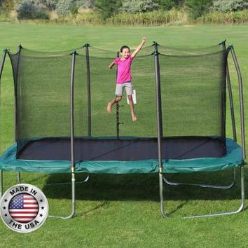 Green Summer Trampoline 14'  UV-protected  - MADE IN THE US