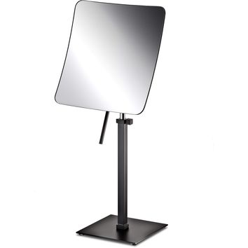 Makeup Vanity Mirror Black Countertop One-Sided Magnifying, Cosmetic and Adjustable