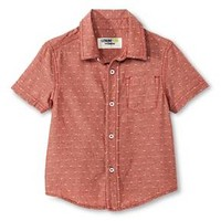 Baby Boys' Button Down Shirt - Copper Red - Genuine Kids™ from OshKosh® : Target