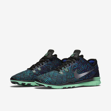 The Nike Free TR 5 Print Women's Training Shoe.