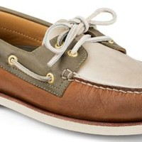 Sperry Top-Sider Gold Cup Authentic Original 2-Eye Boat Shoe Tan/Ivory/Olive, Size 12M  Men's Shoes