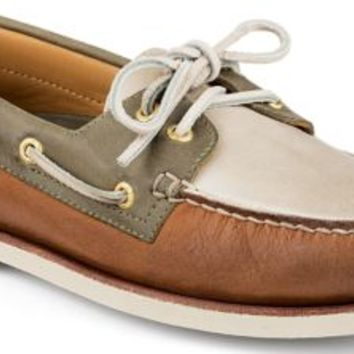 954e0429dd98 Sperry Top-Sider Gold Cup Authentic Original 2-Eye Boat Shoe  Tan Ivory Olive