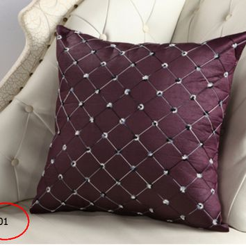 Fashion Accessories High Quality Plaids Pillow Case Sofa Throw Cushion Cover Home Decor