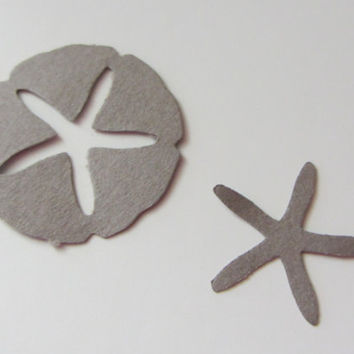 Sand Dollar and Starfish Cutouts - Scrapbooking, Confetti, Wedding, Party Decoration - FREE SHIPPING