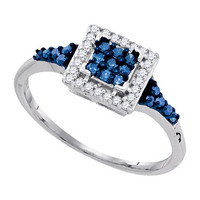 Diamond Ring in Sterling Silver 0.3 ctw