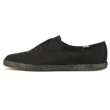 Keds For Women: Champ Jute Black Sneakers