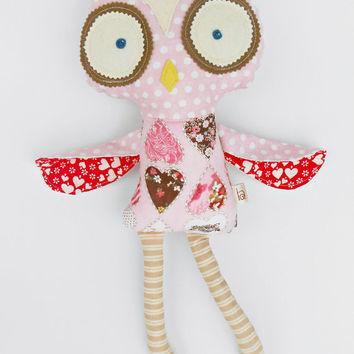 "Owl plush, 50cm/19"", dress up play, roll play, owl soft toy, sensory toy, stuffed animal, owl plush, cute softie"