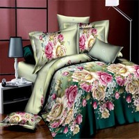 PEAP78W Bedding Set Queen Size Bed Sheet Luxury Duvet/Quilt Cover Set